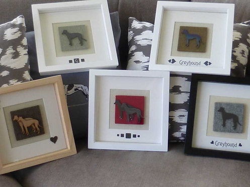 Square Box Frame Greyhound Picture