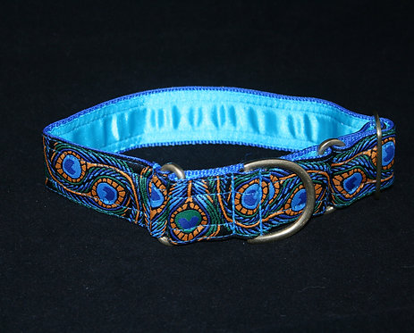 Kitsch Martingale Collar - Blue Peacock
