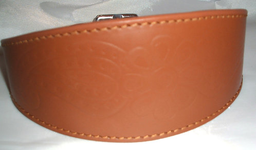 Leather Collar - Paisley