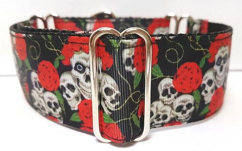Martingale Collar - Skulls & Roses