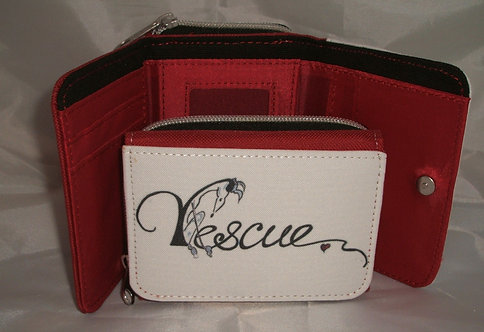 Nellie Doodles Canvas Purse - Red