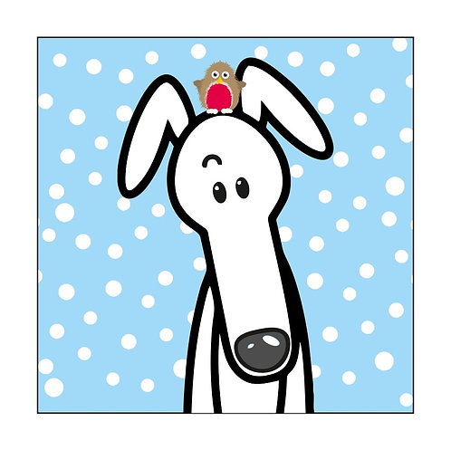 Pack of 10 Greyhound Christmas Cards (F)