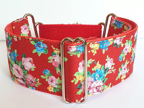 Martingale Collar - Red Floral