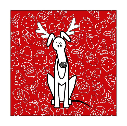 Pack of 10 Greyhound Christmas Cards (B)