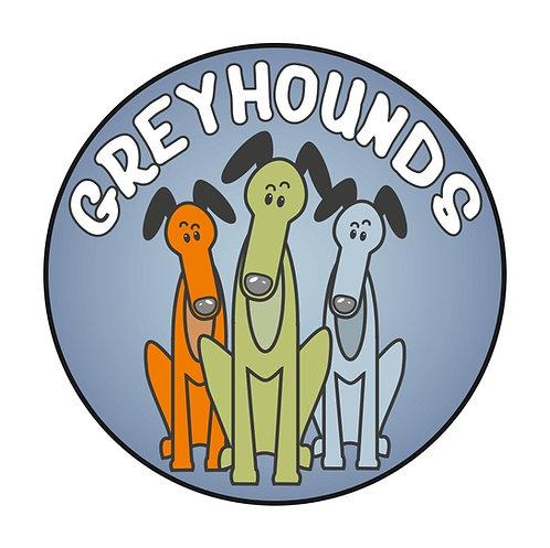 Greyhound Greeting Card - Greyhounds