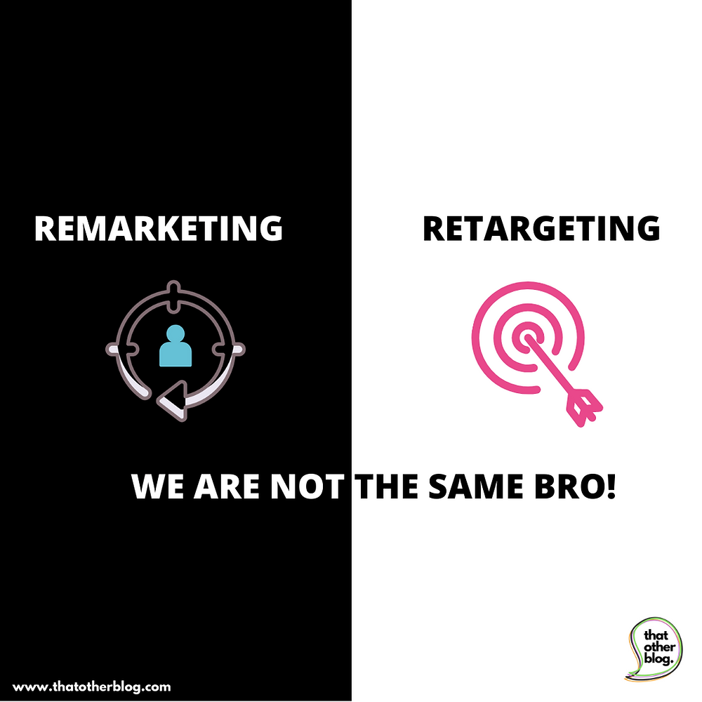 Remarketing vs Retargeting. Its not the same, yet its the same...