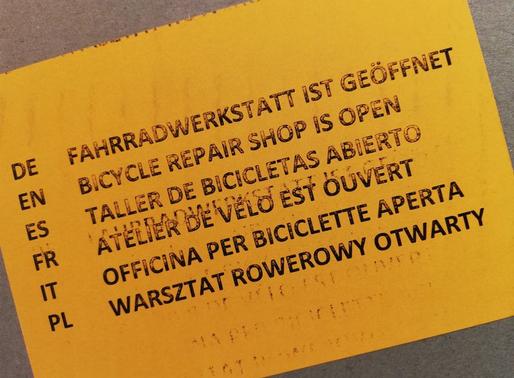 Wir nehmen Fahrrad Reparaturen an!