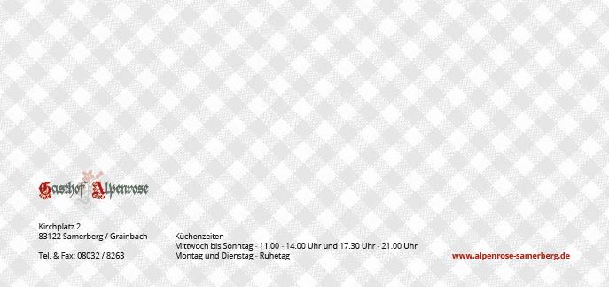 Gasthof Alpenrose Samerberg Broschüre