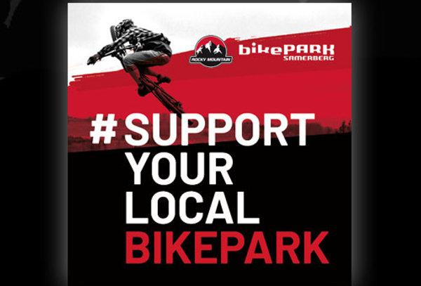Sticker #supportyourlocalbikepark, 5x5cm