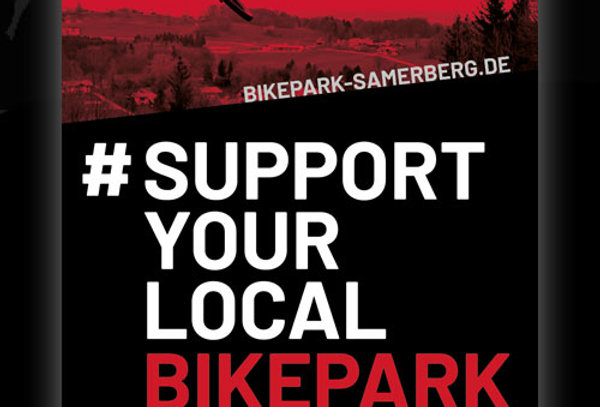 Sticker #supportyourlocalbikepark, 9x14cm