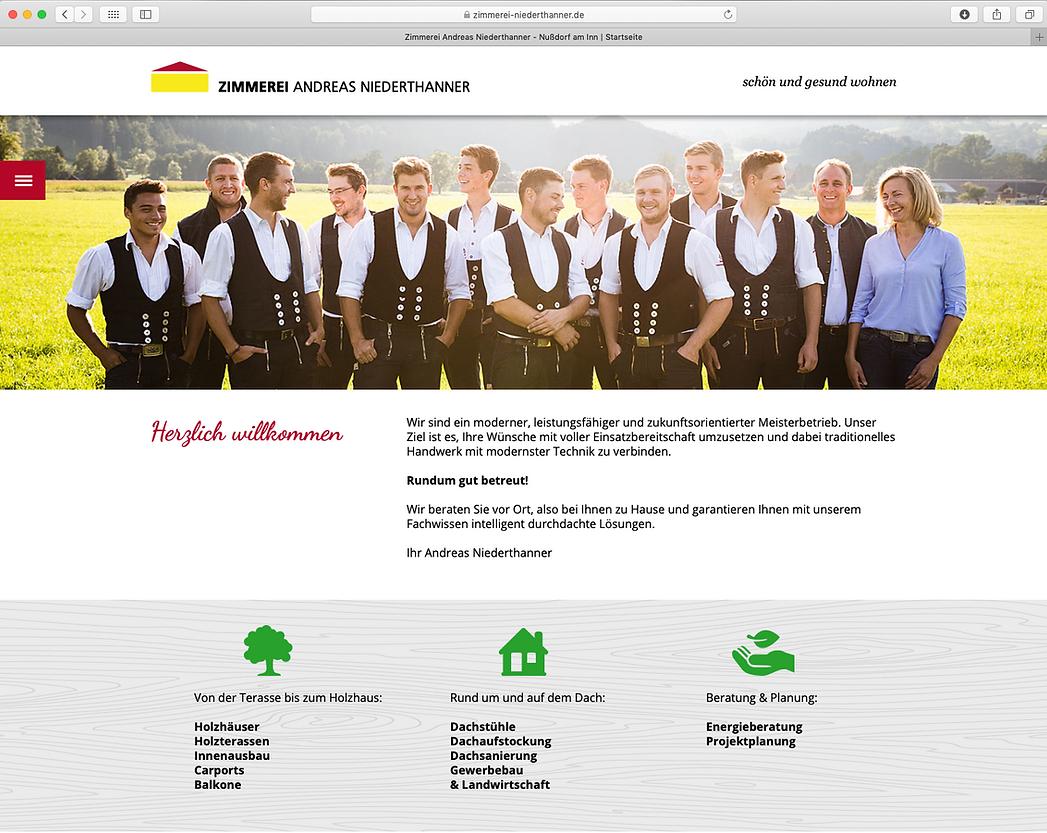 Zimmerei Niederthanner Nussdof Internets