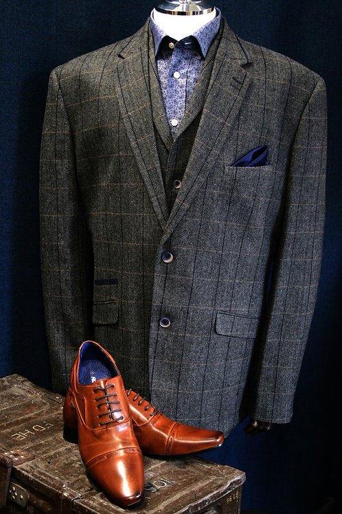 Albert 3 Piece Tweed Suit by Cavani