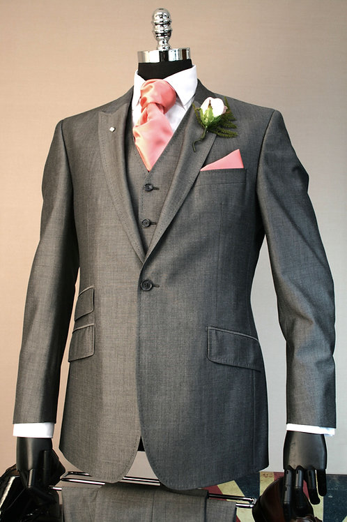 3 Piece Silver Grey Mohair Lounge Suit