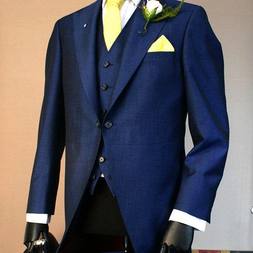 3 Piece Royal Blue Mohair Tailcoat Suit