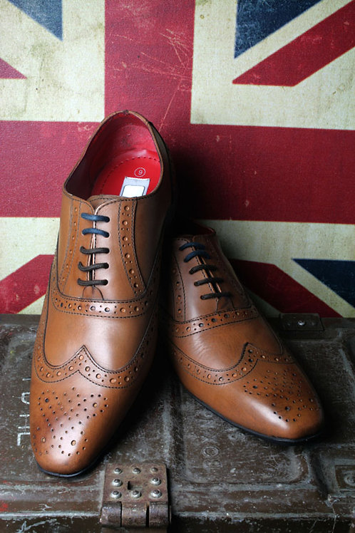 R21-M338BT. Tan Leather Oxford Brogue