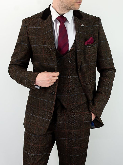 TOMMY Tweed Check 3 Piece Suit