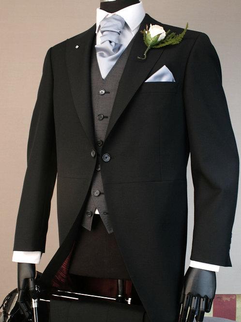 2 Piece Black Mohair Tailcoat Suit
