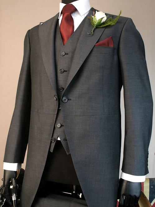 3 Piece Charcoal Mohair Tailcoat Suit
