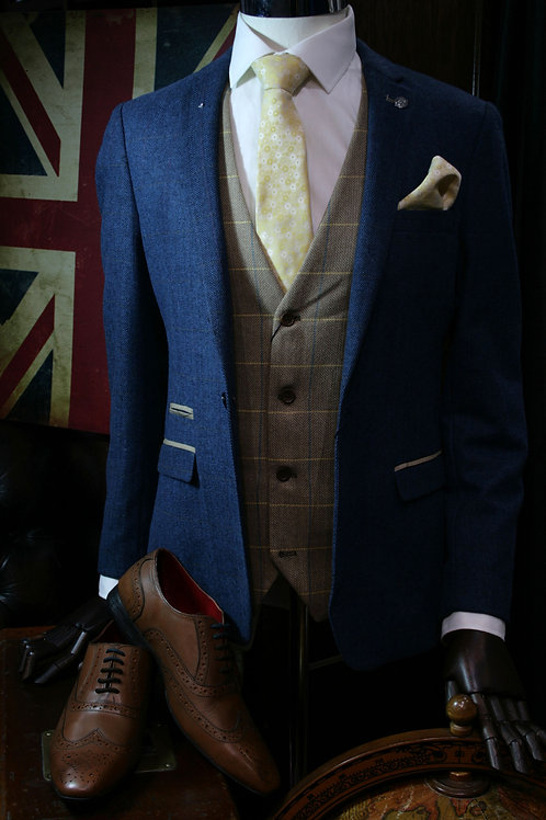 Dion 3 Piece Tweed Lounge Suit by Marc Darcy
