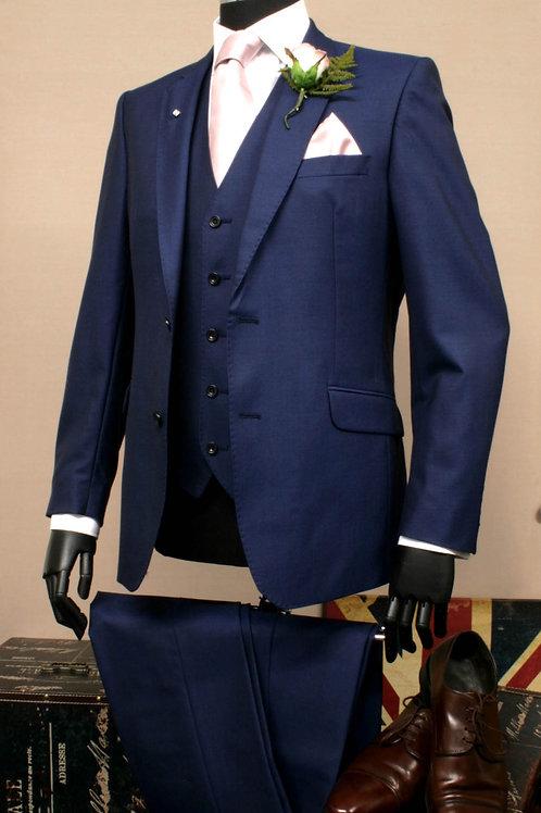 3 Piece Royal Blue Mohair Lounge Suit