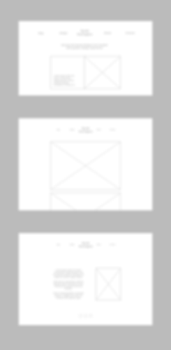 wireframes for personal website files 2.