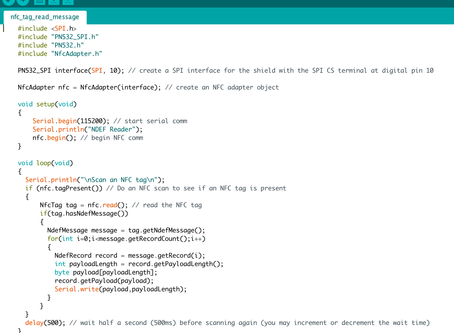 Phase 4- NFC: Scripting and testing the arduino