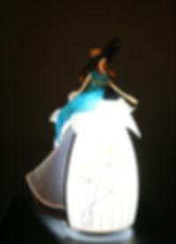 Sculpture Lumineuse, Miss chapeautée, Marie Fillon