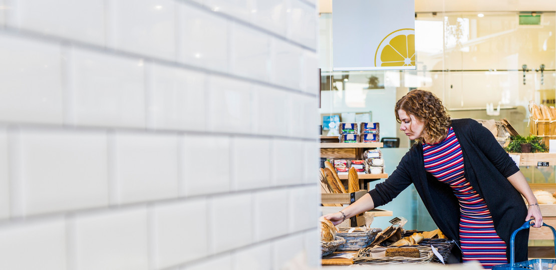 Woman shopping in a Dry Fruit store