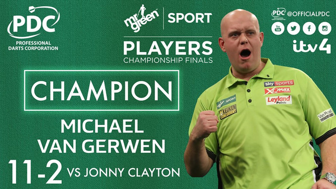 PDC PLAYERS CHAMPIONSHIP FINALS, Butlins Resort, Minehead