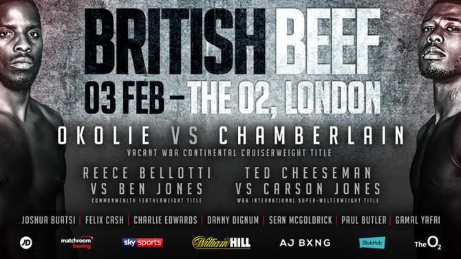 BRITISH BEEF - OKOLIE vs CHAMBERLAIN, The O2, London