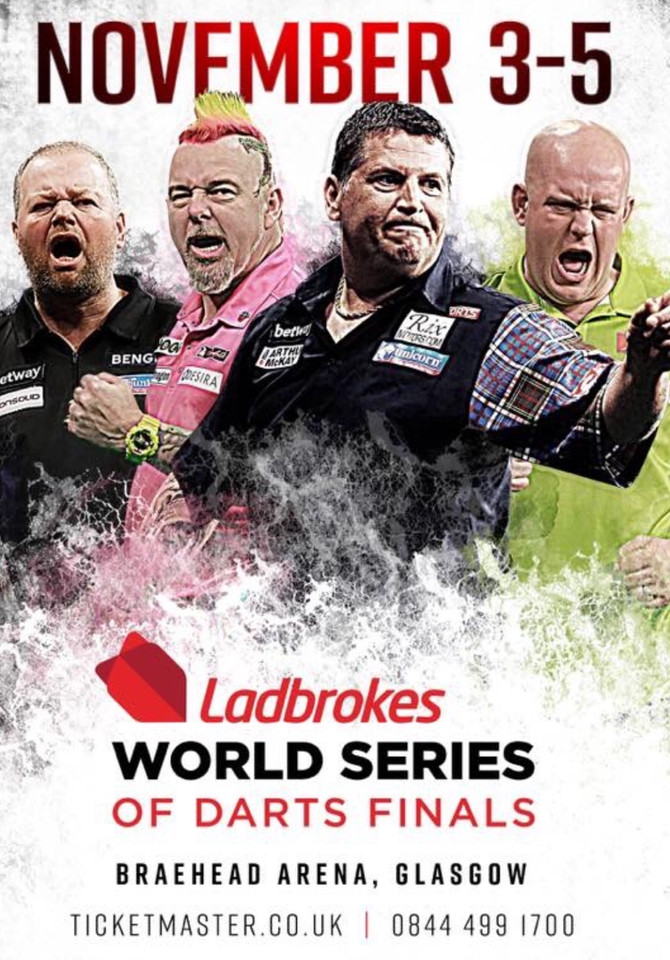WORLD SERIES OF DARTS FINALS, Braehead Arena, Glasgow