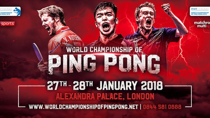 WORLD CHAMPIONSHIP OF PING PONG, Alexandra Palace, London