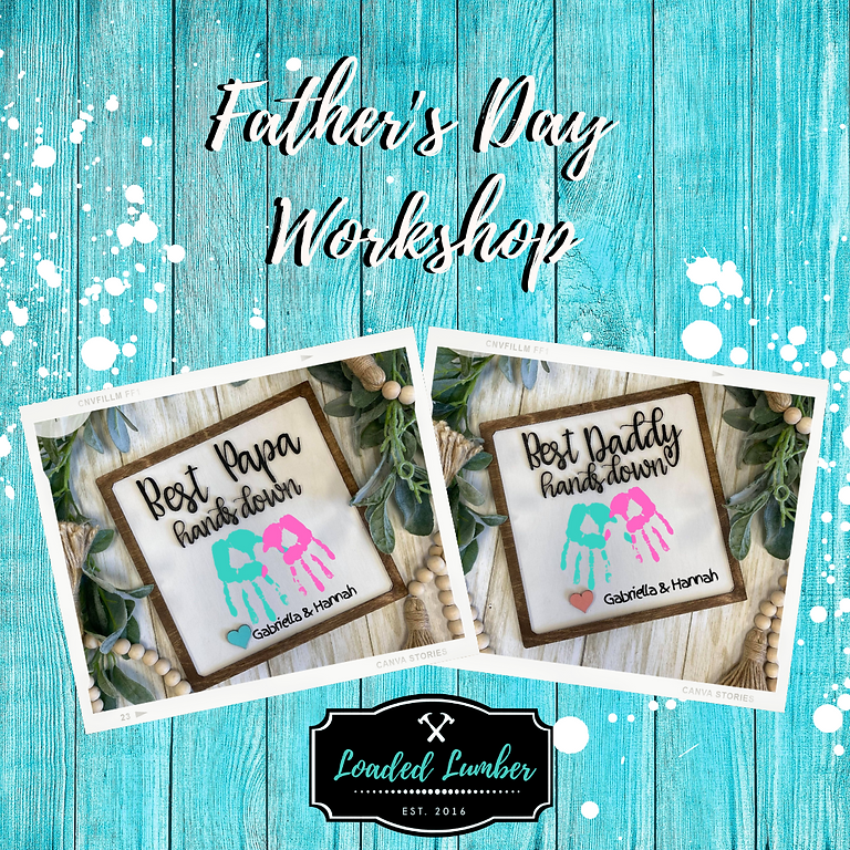 Kids Father's Day Workshop- June 19th 11a-1p