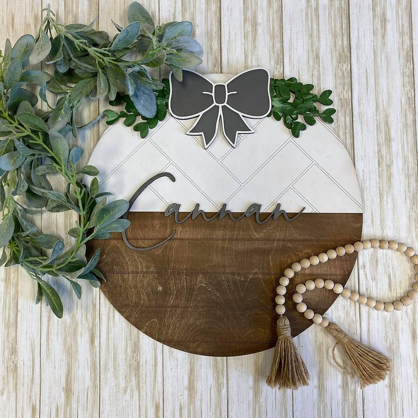Floral Wooden Door Hanger - DIY Workshop