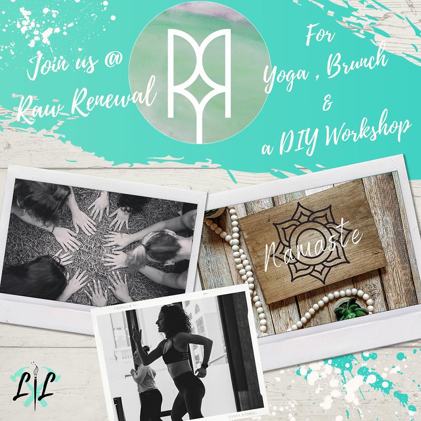 Yoga, Brunch & Boards @ Raw Renewal Yoga Studio- August 22nd 10:30-1:30p