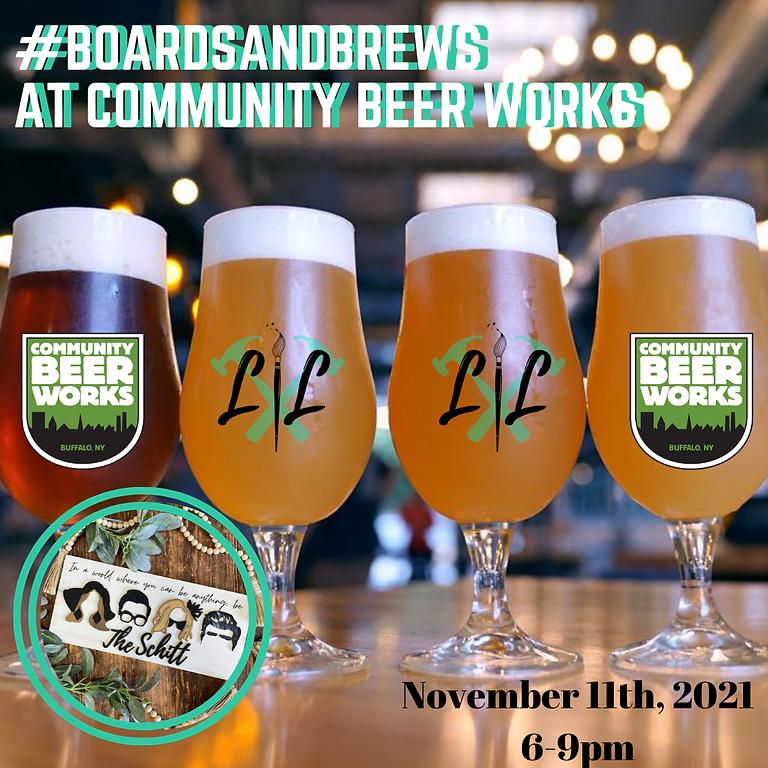 Boards & Brews - @ Community Beer Works - November 11th 6-9pm