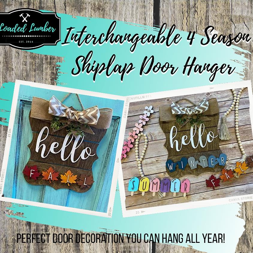Interchangeable 4 Season Shiplap Door Hanger