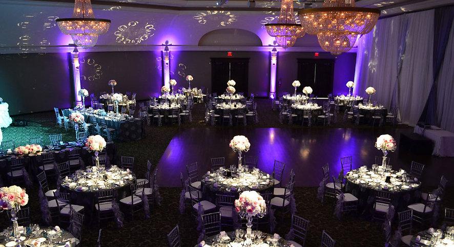 Bellvue_Manor_Wedding_Reception_Toronto_Clear_Ice_Chiavari_Chair_Long_Table_Tall_Centerpiece_Pocket_