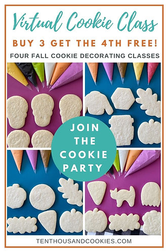 LIVE Virtual Cookie Class: 4 class bundle