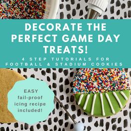 Cookie Decorating Tutorial: Easy DIY Football & Stadium Cookies