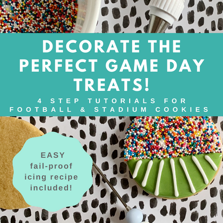 Cookie Decorating Tutorial: Easy DIY Football & Stadium Cookies