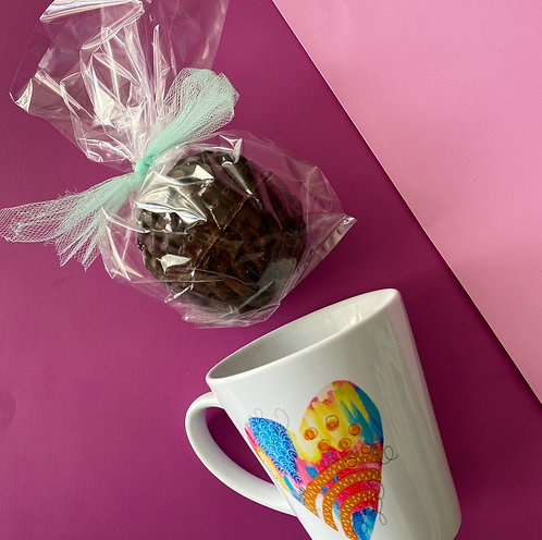 Valentine Gift Set- Christine Borst Original Mug + Cocoa Bomb