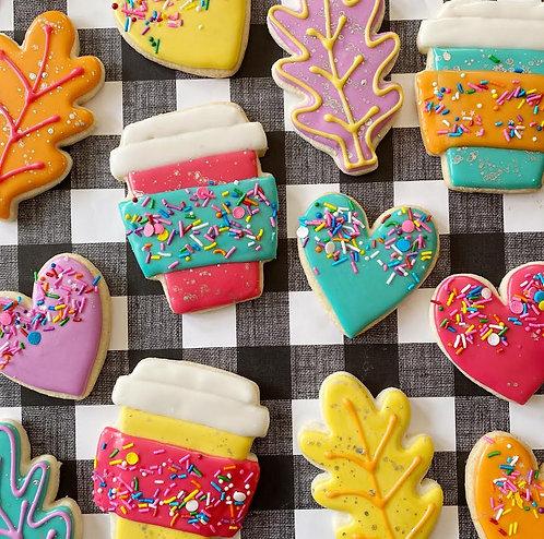 Fancy Fall Sugar Cookies- gluten free AND vegan