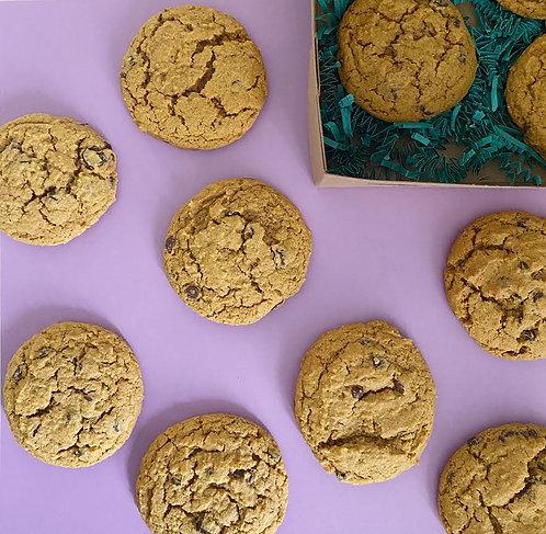 Pumpkin Spice Chocolate Chip Cookies (Gluten Free & Vegan)