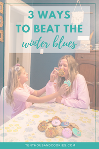 Laughing and eating cookies, beat the winter blues