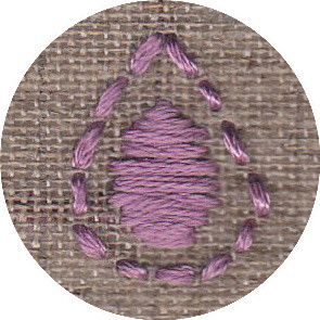 Individually embroidered cell by project participant