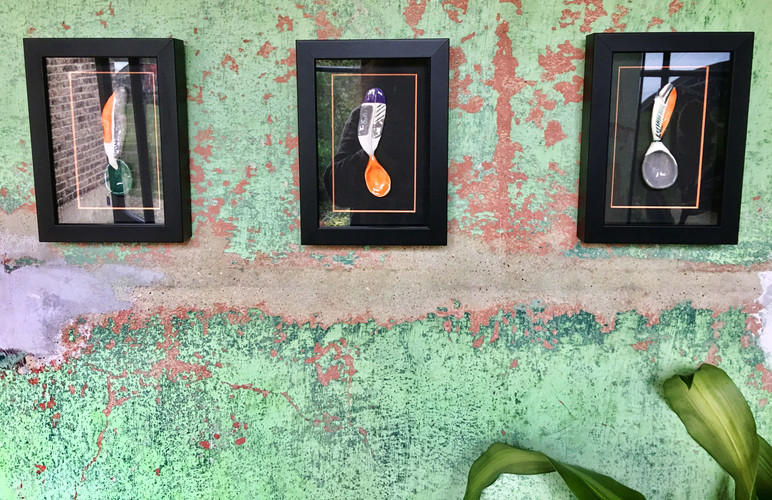 Frames with Feather Spoons