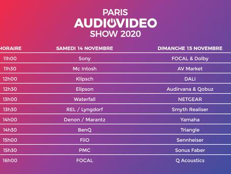 Paris Audio Video Show 2020 Programme