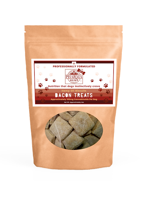 CBD Oil Bacon Dog Biscuits (4oz/100mg) $26.99