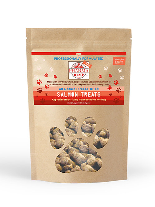CBD Oil Freeze-Dried Salmon Pet Treats $12.99-$26.99